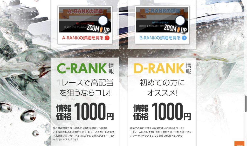 CランクとDランクの詳細