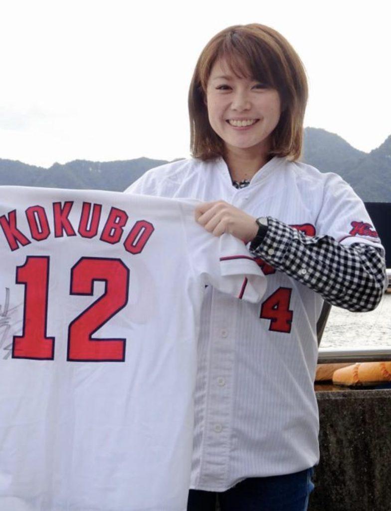向井田真紀(むかいだまき)選手の野球コス